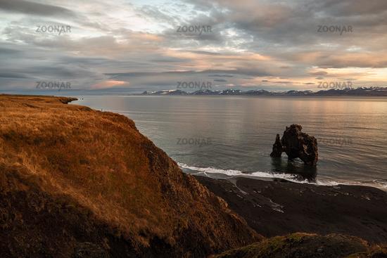 Hvitserkur in Iceland at sunrise
