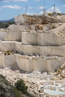 open pit marble mining