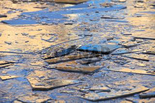 blue ice shards