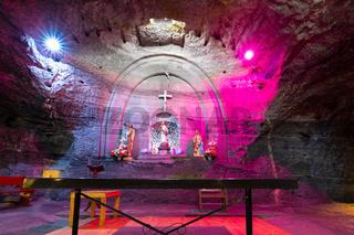 Colombia Zipaquira subterranean altar in the salt mine