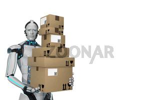 Humanoid Robot Shipping Carton