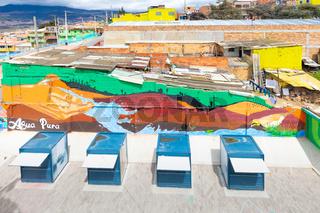 Bogota city aerial view Manitas district
