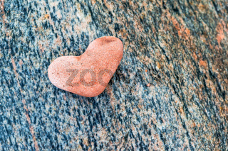 sea stone heart shape, red stone heart figure