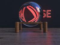 Quarz sphere enlarging the word