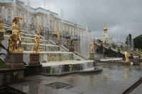 Peterhof palace with fountains