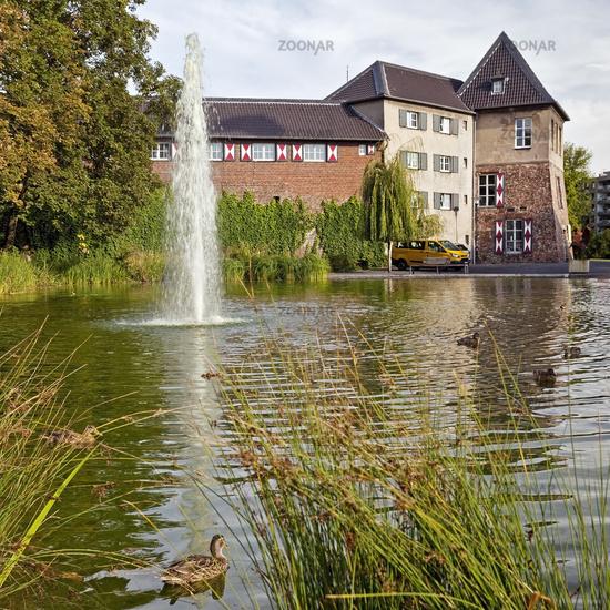 Dinslaken Castle, Dinslaken, Ruhr area, Lower Rhine region, North Rhine-Westphalia, Germany, Europe