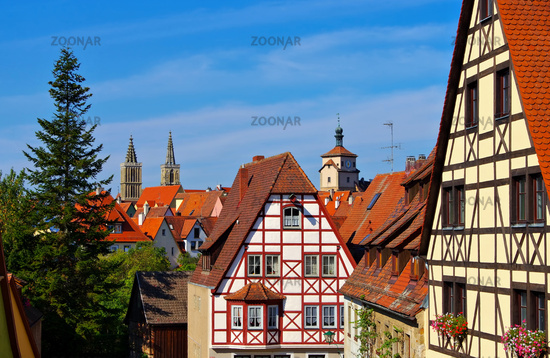 Rothenburg Fachwerkhaus - Rothenburg in Germany, many timbered houses