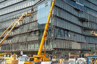 Berlin, Deutschland, Baustelle Buerogebaeude Cube Berlin am Washingtonplatz