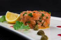 Fresh salmon tartare