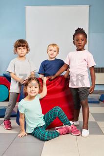 Gruppe Kinder in der Vorschule