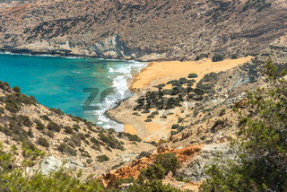 The Potamos beach at the northwest coast of the island Gavdos