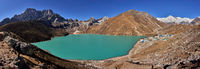 Gokyo lake and village Gokyo with Mt. Cho Oyu in Nepal