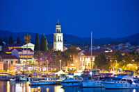 Korcula. Waterfront of Vela Luka on Korcula island evening view