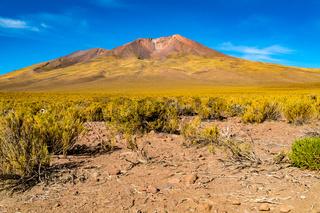 Volcanic landscape at Uyunu in Bolivia