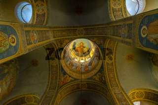 The dome interior of the Memorial Temple of the Birth of Christ (Shipka Memorial Church)