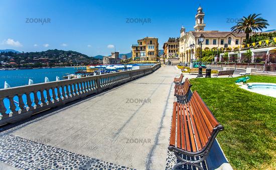 Waterfront in Portofino Liguria Italy