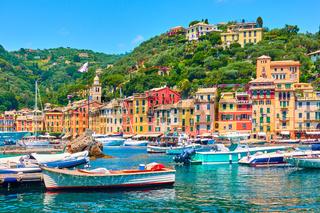 Portofino town and port