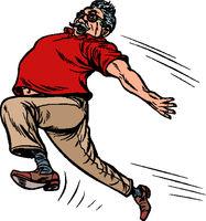 old man grandpa runs