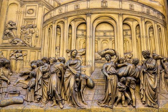 Florence, Baptistery Paradise Gate Detail