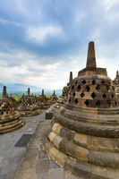 Borobudur Buddist Temple - island Java Indonesia