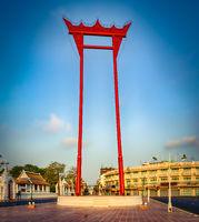 Religious structure Giant Swing, Bangkok, Thailand