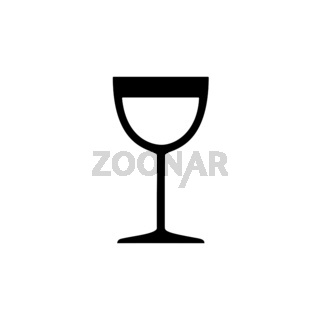 Wine glass. Isolated icon. Drink vector illustration