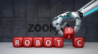 Robot Hand Cubes Robotic