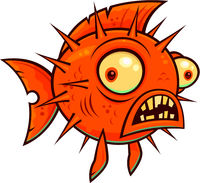 Wacky Cartoon Blowfish