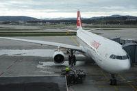 Zuerich, Schweiz, Flugzeug der Swiss auf dem Flughafen Zuerich-Kloten