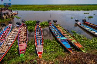 Colorful boats, Songkhla lake