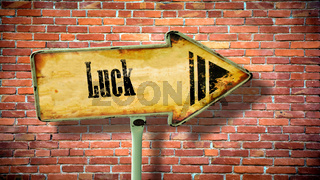 Street Sign to Luck