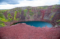 Kerid Crater Lake in Iceland