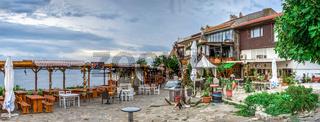 Restaurants by the sea in Nessebar, Bulgaria