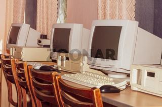Retro computer room