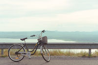 Leisure bicycle with amazing scenic views of lake and mountains -Weekend bike trail activity with pretty scenics