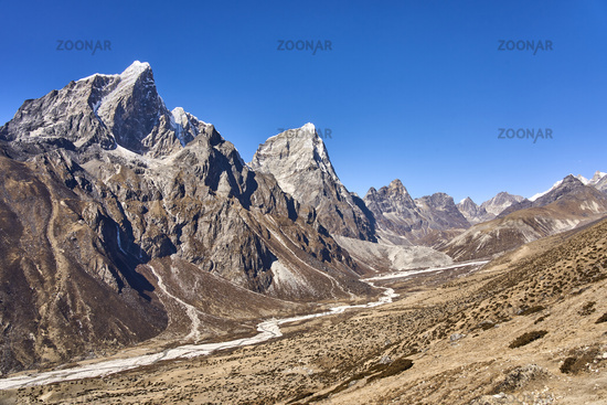 Mountains Taboche and Cholatse in Nepal