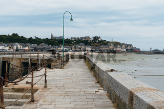 The harbour of Cancale at low tide