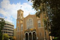 Main christian orthodox Metropolitan Cathedral of whole Greece in Athens