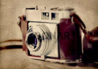 Old fashioned photography camera