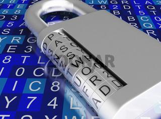 3d Combination padlock.