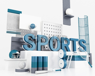 3d Word sports concept.