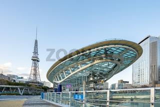 Nagoya cityscape with landmark buildings in Nagoya, Japan