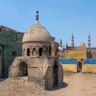 Ruins of Mausoleum of Sidi Al Komi, Old Cairo, Egypt