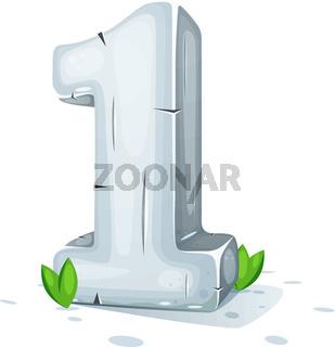 One 3d icon. Stone texture.