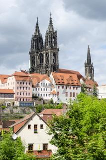 Blick zur Albrechtsburg und Meißner Dom