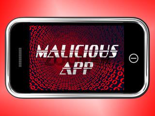 Malicious App Spyware Threat Warning 3d Rendering