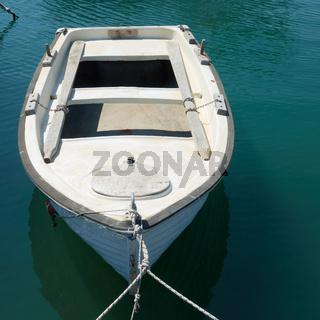 Small oar fishing boat