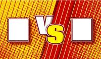 Versus halftone comics design. VS fight vector illustration for poster, infographics, etc. Retro vintage style