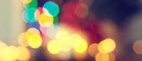Blurred colorful Christmas lights