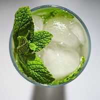 Mojito, cocktail, mint, ice, top view, alcohol, rum